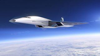 Une illustration du supersonique imaginé par Virgin Galactic et présenté le 3 août 2020