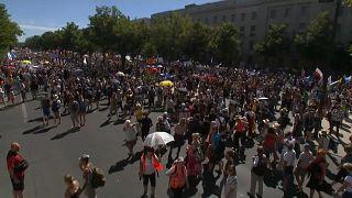 Veinte mil personas desfilaron por el centro de Berlín.