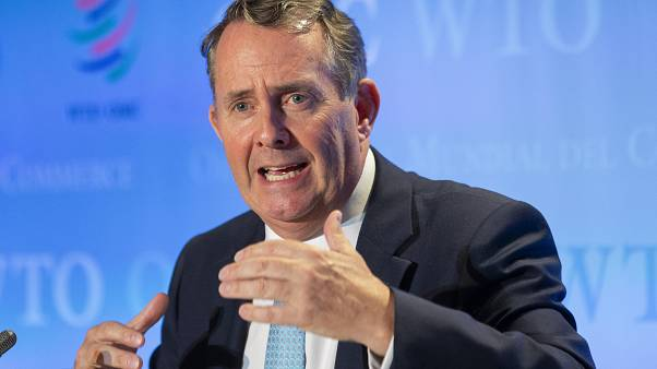 Liam Fox in Geneva, Switzerland, Friday, July 17, 2020.