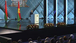 Alexander Lukaschenko während seiner Rede an die Nation