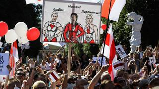 Tres mujeres desafían al poder de Lukashenko en Bielorrusia
