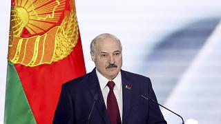 Belarus President Alexander Lukashenko delivers his speech during a state-of-the-nation address ahead of Sunday's election in Minsk, Belarus, Tuesday, Aug. 4, 2020.