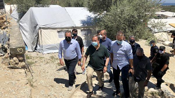 Ο αναπληρωτής υπουργός Μετανάστευσης και Ασύλου Γιώργος Κουμουτσάκος με τον πρωθυπουργό του Γερμανικού κρατιδίου της Βόρειας Ρηνανίας - Βεστφαλίας Άρμιν Λάσετ