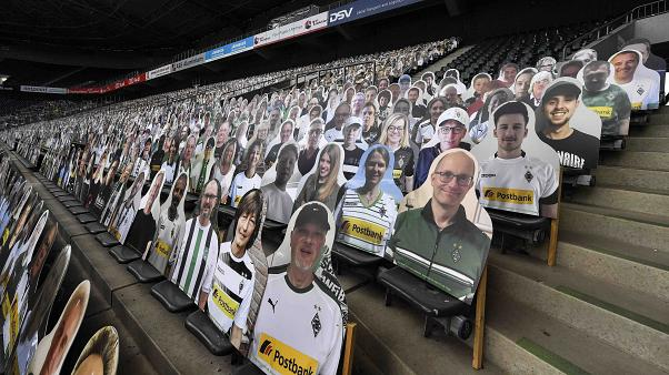 All Bundesliga matches took place behind closed doors because of the COVID-19 pandemic.