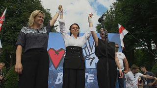 Oppositionskandidatin Swetlana Tichanowskaja