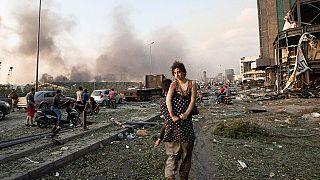 Un herido por la explosión en el puerto de Beirut