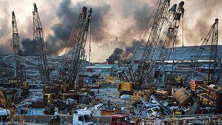 2750 tonna ammónium-nitrát robbanhatott fel Bejrútban, 100 felett a halottak száma