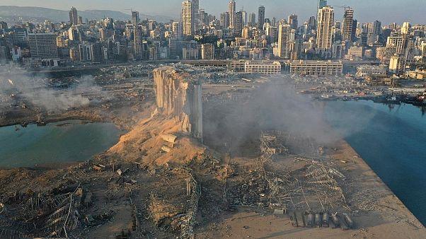 An explosion hit  Beirut, Lebanon