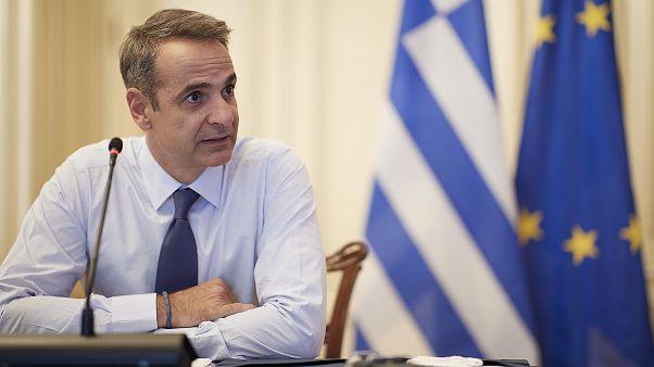 Ο πρωθυπουργός Κυριάκος Μητσοτάκης προεδρεύει σε τηλεδιάσκεψη για θέματα Υγείας