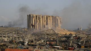 Damage is seen after a massive explosion in Beirut, Lebanon, Wednesday, Aug. 5, 2020.