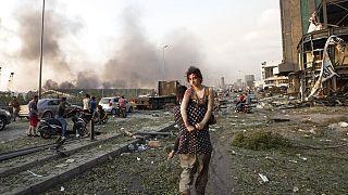 Lübnan'ın başkenti Beyrut'ta limanda meydana gelen patlamada binlerce kişi yaralandı
