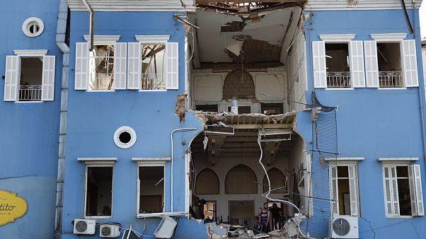 Zerstörte Stadt Beirut