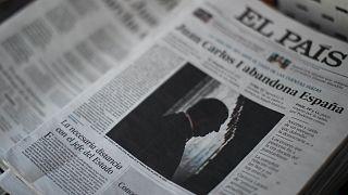 Spanyol napilapok János Károly távozásáról