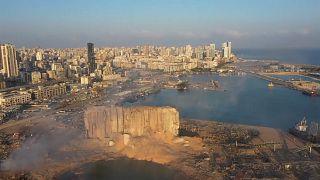 Bejrút a robbanás másnapján