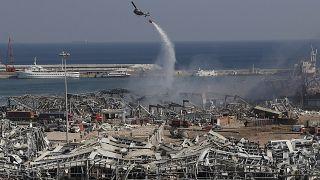 موقع انفجار المرفأ في بيروت