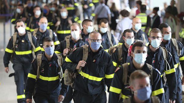 Fransız acil yardım ve kurtarma ekipleri Beyrut'a gitmek için yola çıktı