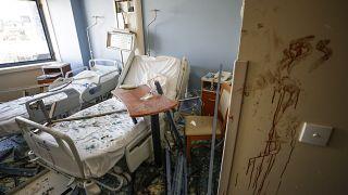 مستشفى في لبنان عقب وقوع الانفجار