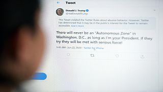 الحساب الرسمي للرئيس الأمريكي دونالد ترامب على تويتر