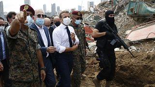 Ο πρόεδρος της Γαλλίας Μακρόν επισκέπτεται τη Βηρυτό
