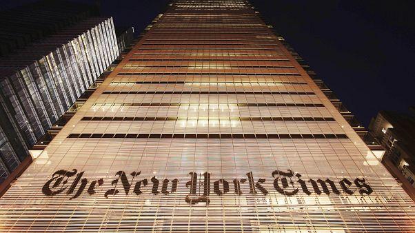 مبنى المقر الرئيسي لصحيفة نيويورك تايمز في نيويورك