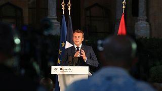 کنفرانس مطبوعاتی رییس جمهور فرانسه در بیروت