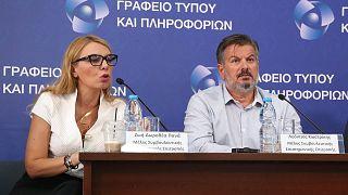 Η Δρ. Ζωή-Πανά και ο Δρ.Λεόντιος Κωστρίκης μέλη της επιστημονικής ομάδας Κύπρου
