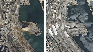 El puerto de Beirut tras la explosión