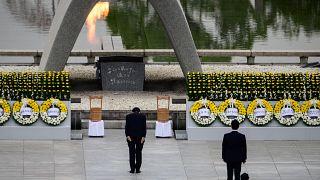 تصاویری از هیروشیما در ۷۵امین سالگرد حمله اتمی آمریکا؛ یاد قربانیان گرامی داشته شد