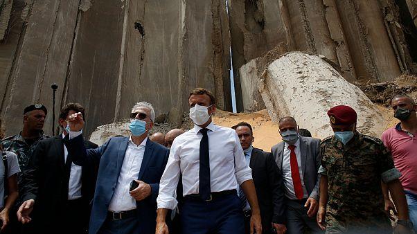 Fransa Cumhurbaşkanı Macron, Lübnan'ı ziyaret etti