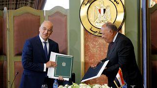 Από την υπογραφή της συμφωνίας Ελλάδας - Αιγύπτου τον Αύγουστο του 2020