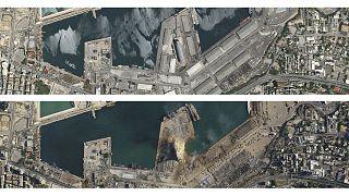 Le port de Beyrouth, le 31 mai et le 5 août 2020