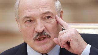 Lukashenko durante una conferencia de prensa en Minsk