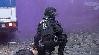 Столкновения между полицией и леворадикальными группировками в Берлине