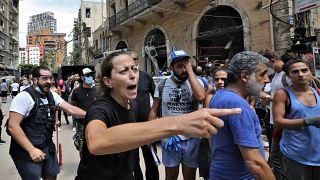 Kormányellenes tüntetés augusztus 6-án Bejrútban