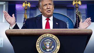 Donald Trump sajtótájékoztatója augusztus 3-án a Fehér Házban