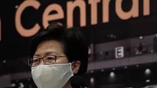 Carrie Lam is the pro-China leader of Hong Kong.