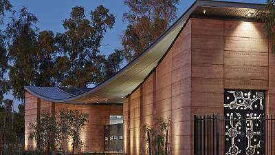 This Aboriginal healthcare centre has been constructed using rammed earth techniques.