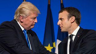 دونالد ترامپ و امانوئل ماکرون