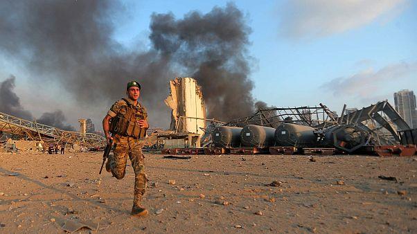 موقع الانفجار، مرفأ بيروت، 4 أغسطس 2020