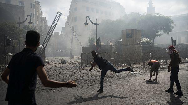 Protestas en las calles de Beirut