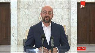 """Charles Michel: """"L'Europa aiuterà il Libano"""""""