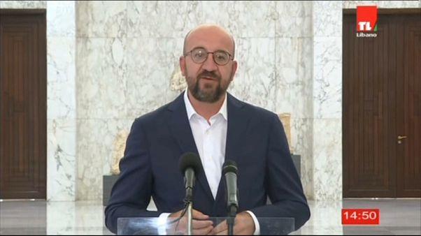 Οργή στον Λίβανο - Μήνυμα αλληλεγγύης από την ΕΕ μετέφερε ο Σαρλ Μισέλ