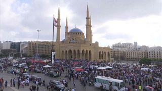 Les libanais en colère protestent contre le pouvoir