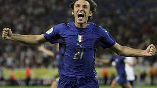 FILE - In this Tuesday, July 4, 2006 filer, Italy's Andrea Pirlo celebrates his side's first goal during extra time in the World Cup.