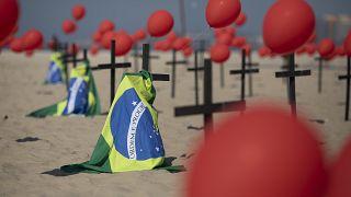 بحسب الأرقام الرسمية إن 1/7 تقريباً من وفيات كوفيد-19 في العالم في البرازيل