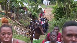Tensión en un campo de refugiados de Panamá