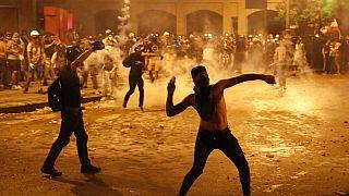 Vasárnap esti tüntetés Bejrútban