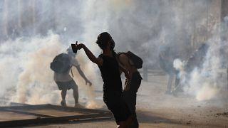 من اشتباكات الأمس في وسط مدينة بيروت