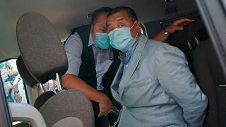 آقای جیمی لی در هنگام بازداشت
