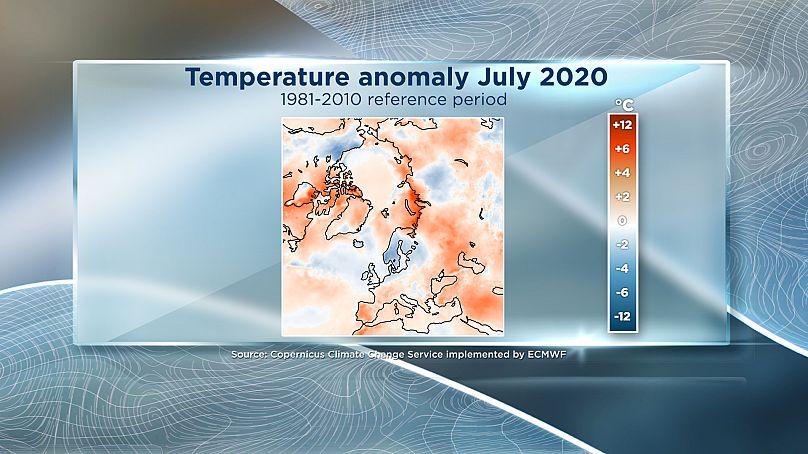Euronews / Servicio de Cambio Climático de Copernicus implementado por el ECMWF